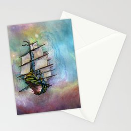 Mike's Tall Ship Stationery Cards
