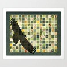 Soaring Hawk Art Print