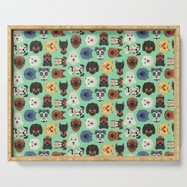 Dog dogs pet pets cute pattern Serving Tray