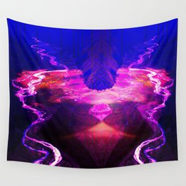 Down by the river pink Wall Tapestry