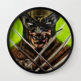 Wolverines Wall Clock