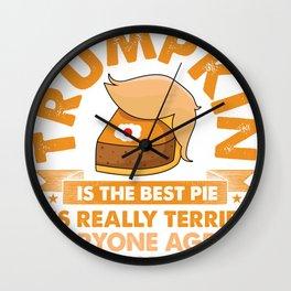 Trumpkin Pie Wall Clock