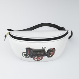 Black and Red Old Tractor Fanny Pack