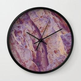 Ragged Rocks Wall Clock
