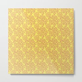 neo Memphis Coordinate Yellow Pink Metal Print