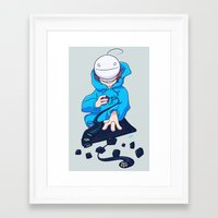 cryaotic Framed Art Prints featuring Cryaotic  by Magnta