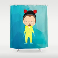 walter white Shower Curtains featuring Walter White by Creo tu mundo