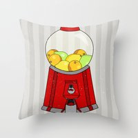 gumball Throw Pillows featuring Gumball Machine. by Bedelia June