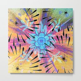Colors Colide Metal Print
