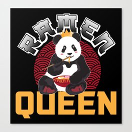 Panda Ramen Miso Nudelsuppe Queen Geschenk Canvas Print