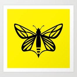 Bee Free Art Print
