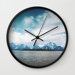 Dreaming of Mountains and Sky Wall Clock