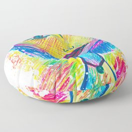 The Difference Between Fairies and You, Is That Your Wings Are Hidden in Your Heart... Floor Pillow