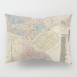 Vintage Map of Newark NJ (1879) Pillow Sham