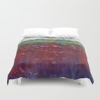 pagan Duvet Covers featuring Colors of the Season (christmas abstract) by brenda erickson