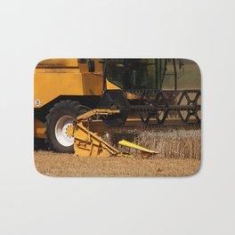 Combine harvester in detail Bath Mat