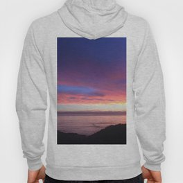 Purple and Pink Summer Beach Sunset Hoody