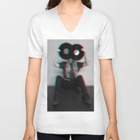 3d V-neck T-shirts featuring 3D  by Vivid Creations