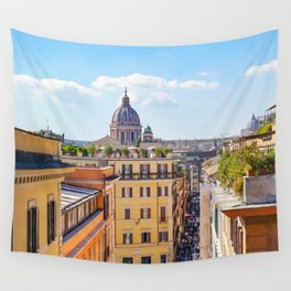 ROME the Streets:  Rooftop View of Rome, Italy Wall Tapestry