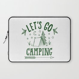 let's go camping in green Laptop Sleeve