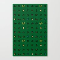 ninja turtles Canvas Prints featuring Turtles by AboveOrdinaryArts