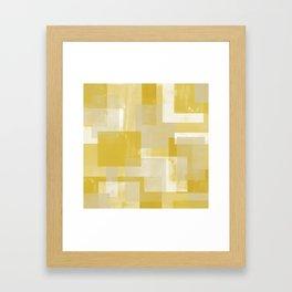 Modern Abstract No. 19 | Citron Framed Art Print