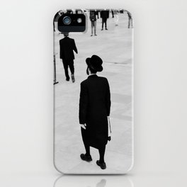 Men walking to The Western Wall in the Old City, Jerusalem, Israel | Holy-place, religious jewish men talking | Fine art print photography  iPhone Case