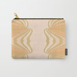 Cream and Olive Green Pattern Carry-All Pouch