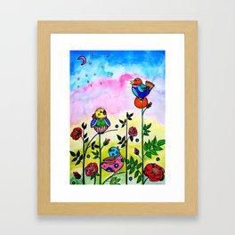 EARLY MORNING BIRDS Framed Art Print