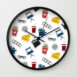 Cinema movie pattern Wall Clock