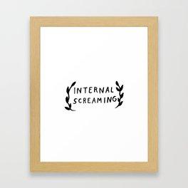 Internal screaming Framed Art Print