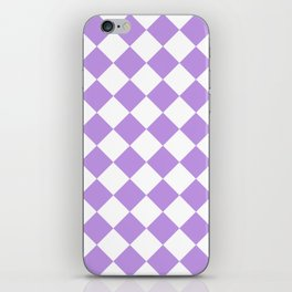 Large Diamonds - White and Light Violet iPhone Skin