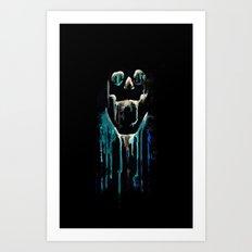 skull drips  2 Art Print