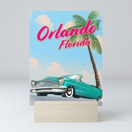 Orlando Florida Vintage style travel poster Mini Art Print