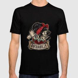 Rockabilly Skull Pin-Up Girl Hairdresser T-shirt