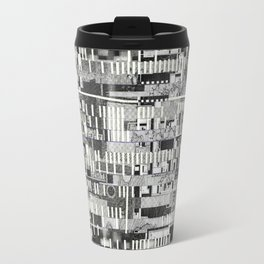 Exploiting Digital Behavior (P/D3 Glitch Collage Studies) Travel Mug