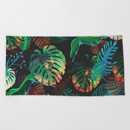 Colorful Tropical Beach Towel