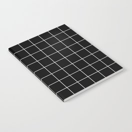Grid Simple Line Black Minimalist Notebook