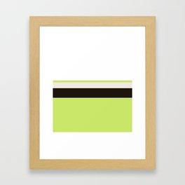 Modern Lime Green Color Block Gray Stripes White Framed Art Print