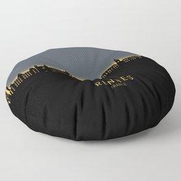 Rennes France Skyline Floor Pillow
