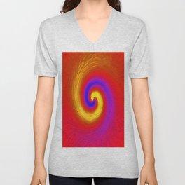 Whirlpool of paint Unisex V-Neck