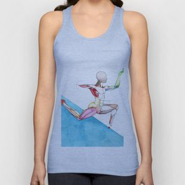 Harpers Leap, male ballet anatomy, NYC Artist Unisex Tank Top