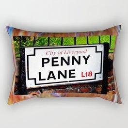 liverpool England famous penny Lane sign Rectangular Pillow