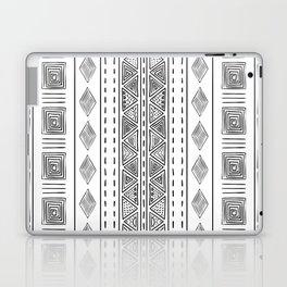 Mud Cloth White and Black Vertical Pattern Laptop & iPad Skin