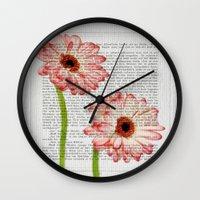 writing Wall Clocks featuring Old Writing by Susann Mielke