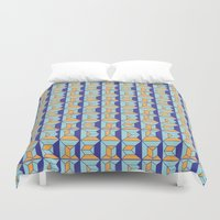code Duvet Covers featuring Coatl Code by Pamku