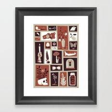 Cabinet of curiosities Framed Art Print
