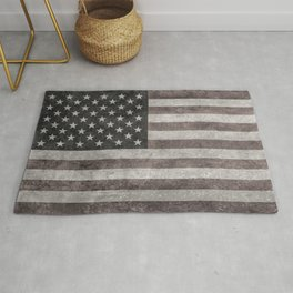 US Flag in vintage retro style Rug