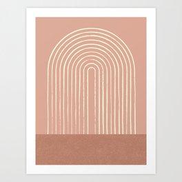 Arch Terra Pink Art Print