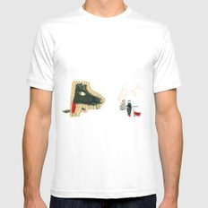 The seven little goats MEDIUM Mens Fitted Tee White